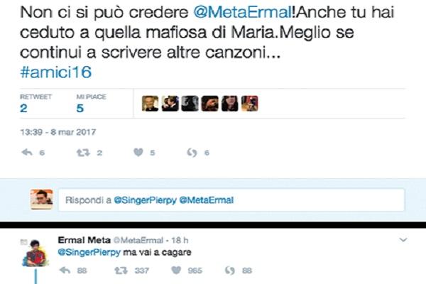 Ermal Meta Twitter: critche dopo le news su Amici 16, il tweet che gela i fan
