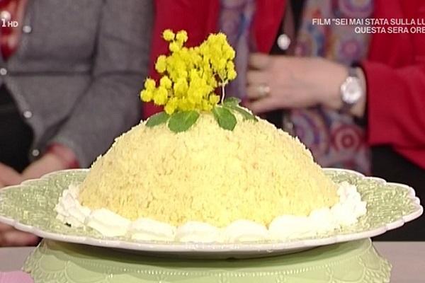 La Prova del Cuoco ricette dolci festa della donna: zuccotto di mimosa di Anna Moroni