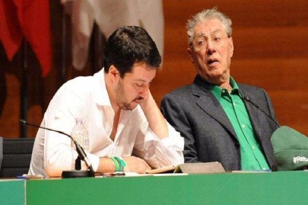 Bossi contro Salvini morte Lega