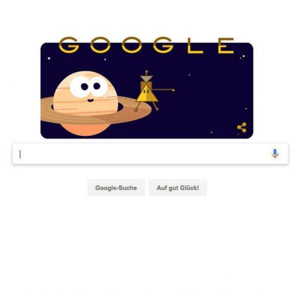 doodle dedicato alla missione Cassini-Huygens