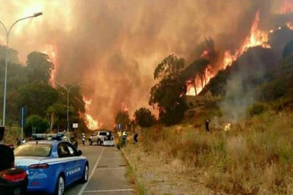 Vesuvio in fiamme, primi arresti: roghi dolosi, la bufala degli animali vivi