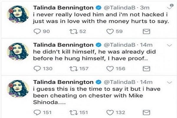 morte Chester Bennington suicidio twitter hackerato