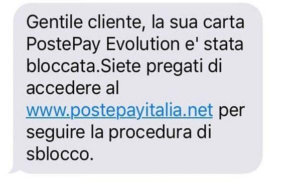 Postepay Evolution La truffa online