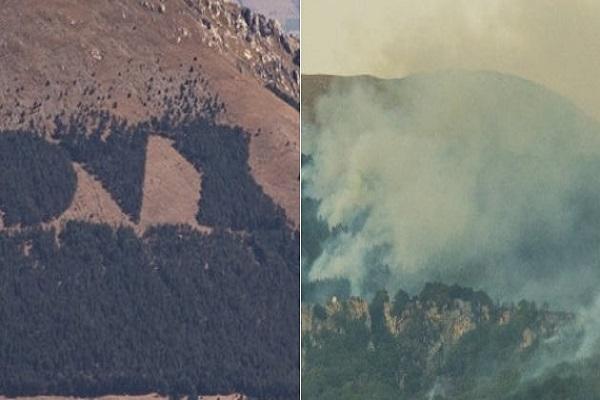 DUX monte Giano incendio