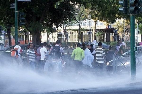 scontri in piazza indipendenza a roma