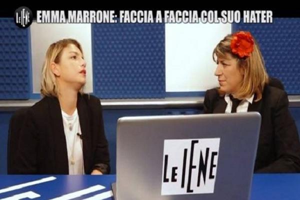 Emma Marrone a Le Iene incontra un hater: Sono una donna come la tua ragazza