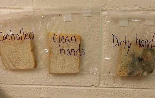 igiene lavaggio lavarsi le mani pane