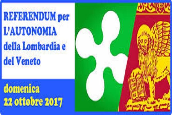 referendum autonomia Lombardia e Veneto 2017