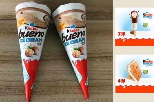 Gelati Kinder Ferrero prodotti da Magnum