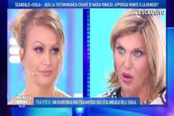 Scandalo droga Isola dei Famosi 2018, Nadia Rinaldi contro Eva Henger