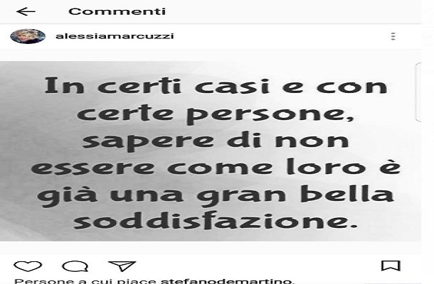 alessia marcuzzi Instagram contro eva henger canna gate Isola dei Famosi 13