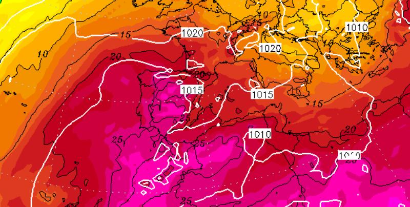 Caldo record in Spagna e Portogallo: si toccheranno punte di 50 gradi