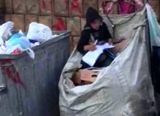 Profuga siriana studia nel cassonetto, interviene il Ministero