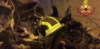 Incidente in Galleria Tre Valli Umbre, morto 21enne N.D.
